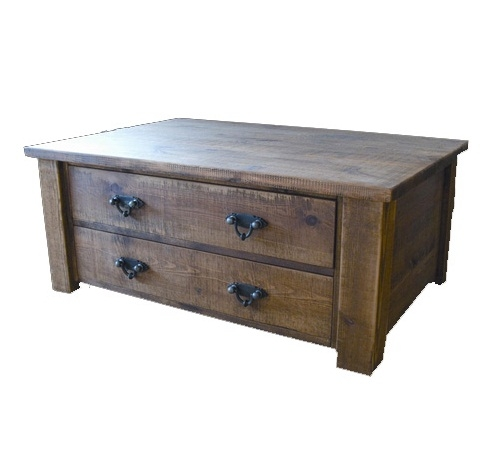 Impressive Latest Rustic Coffee Table Drawers Within Adding Some Charm With Rustic Coffee Table With Drawers Coffe (Image 26 of 50)