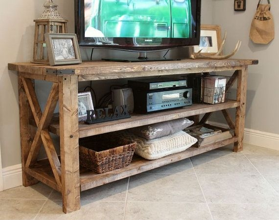 Impressive Latest Rustic TV Stands For Sale In Rustic Tv Console Solid Wood Tv Console Entry Table Sofa Table (Image 29 of 50)