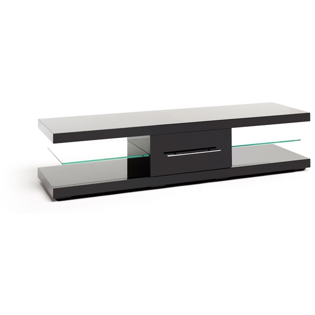Impressive Latest Slimline TV Stands Inside Tv Stands In Black Ao (View 13 of 50)