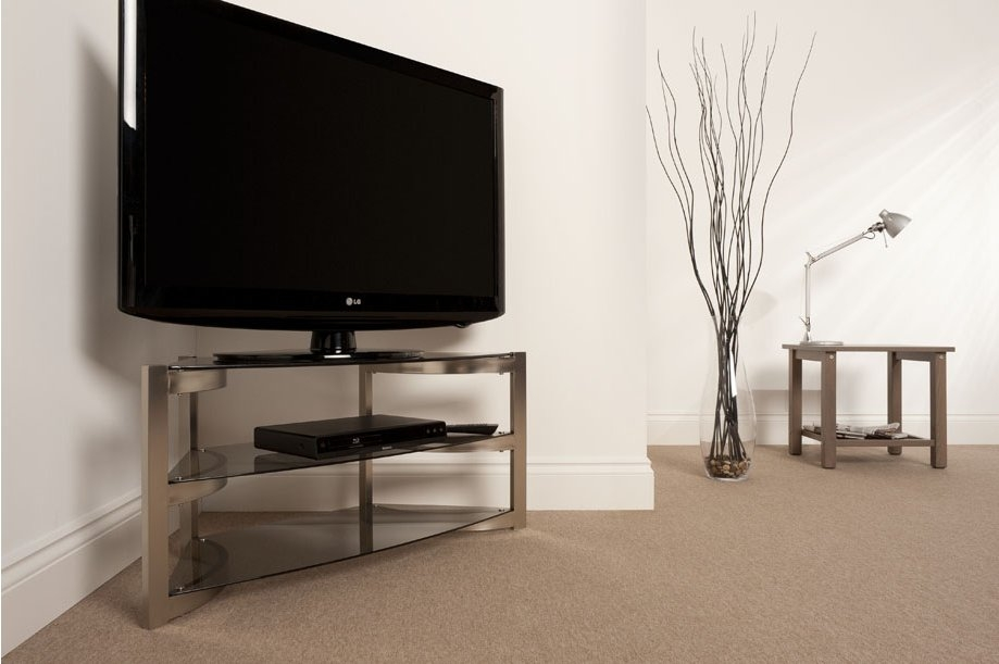 Impressive Latest Smoked Glass TV Stands For Techlink Sk100tc Tv Stands (View 38 of 50)