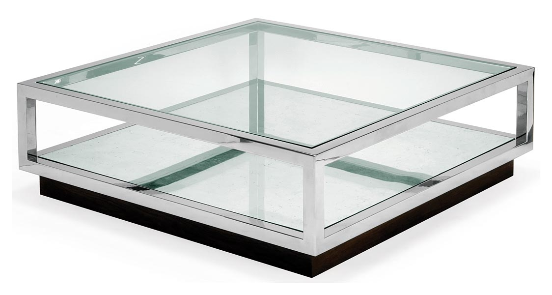 Impressive Latest Steel And Glass Coffee Tables Inside Stainless Steel And Glass Coffee Table Coffee Table Design Ideas (Image 24 of 50)