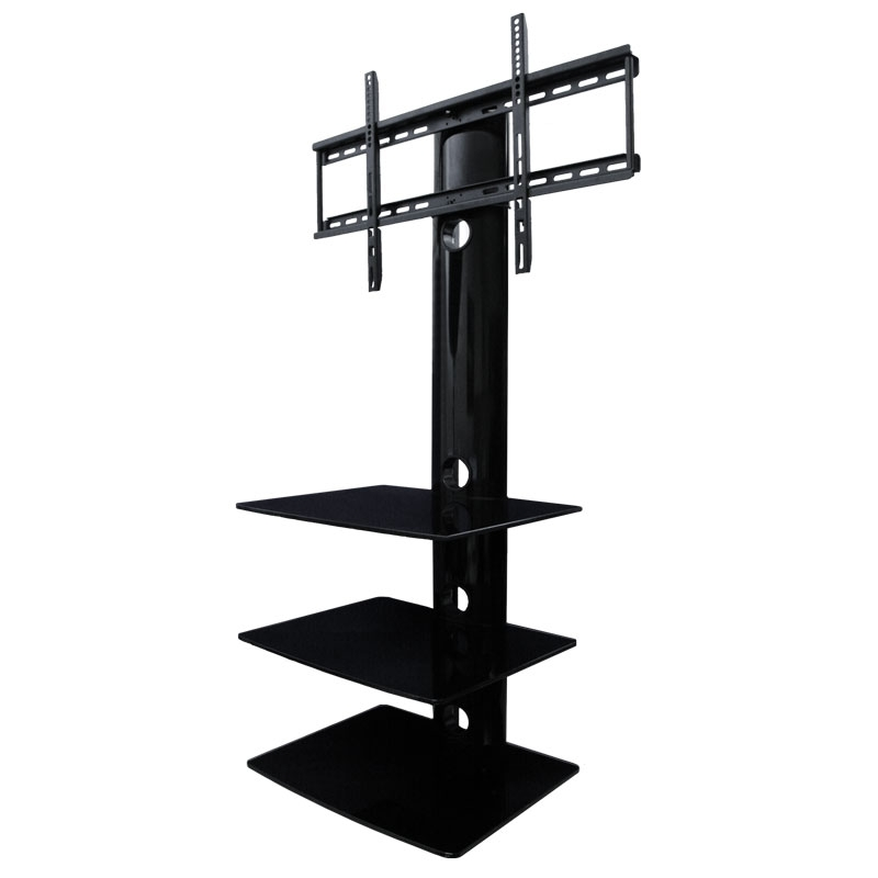 Impressive Latest Wall Mounted TV Stands With Shelves Pertaining To Tv Wall Mount With Three Shelves Tv Mounts Av Express (Image 32 of 50)
