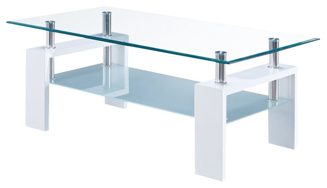 Impressive Latest White And Glass Coffee Tables Within Remarkable Rectangular Glass Coffee Table Sono Rectangular Glass (View 27 of 40)