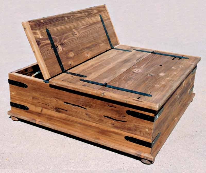 Impressive Latest Wooden Storage Coffee Tables Pertaining To Storage Trunk Coffee Table Idi Design (View 21 of 50)