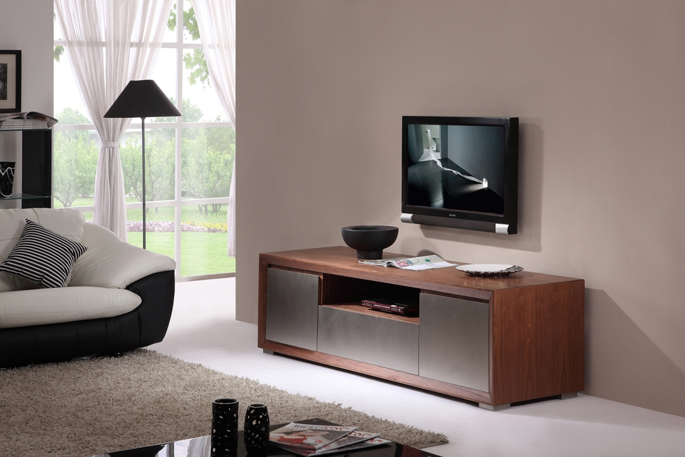 Impressive New BModern TV Stands For B Modern Esquire Tv Stand Light Walnut B Modern Modern Manhattan (View 27 of 50)