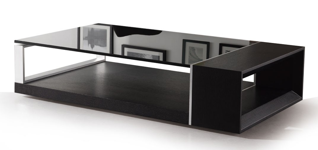 Impressive New Black Wood And Glass Coffee Tables Regarding Round Glass Coffee Table Wood (Image 22 of 49)