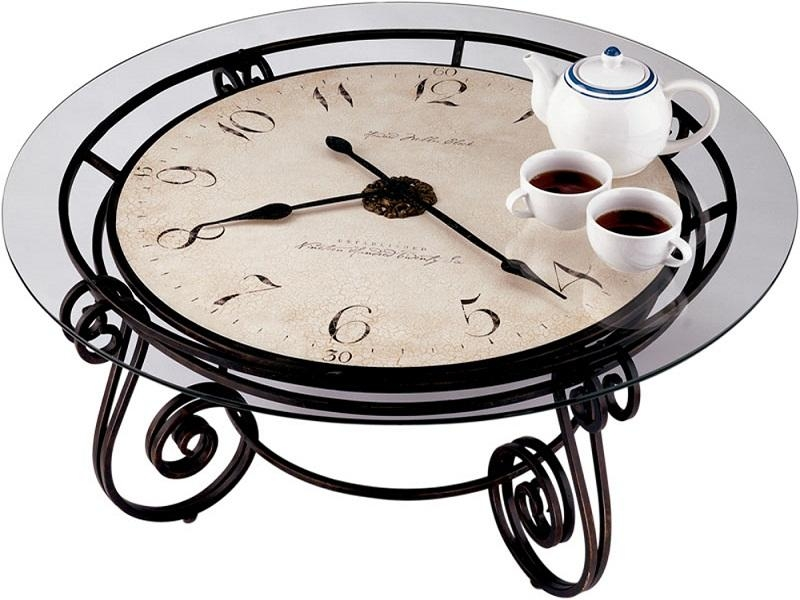 Impressive New Coffee Tables With Clock Top In Coffee Table With Clock Top See Here Coffee Tables Ideas (Image 25 of 40)