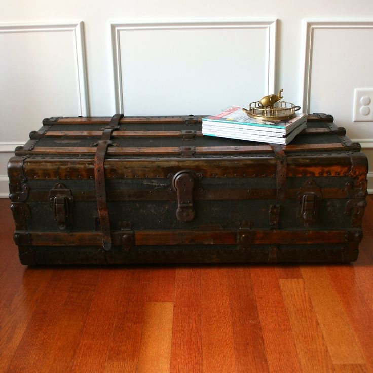 Impressive New Old Trunks As Coffee Tables In 111 Best Trunks Images On Pinterest Antique Trunks Steamer (Image 27 of 50)