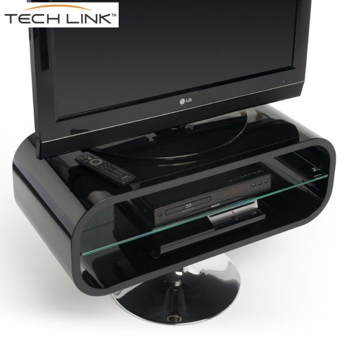 Impressive New Opod TV Stands White With Techlink Op80b Opod Gloss Black Tv Stand  (Image 27 of 50)