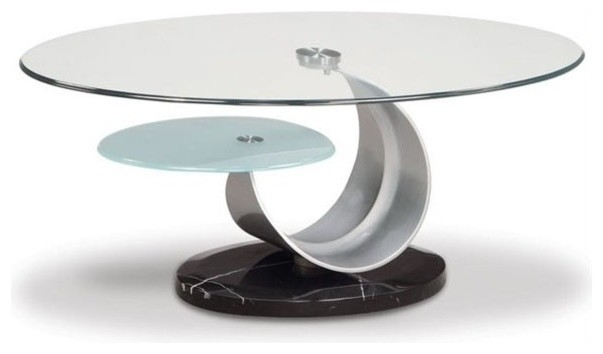 Impressive New Oval Black Glass Coffee Tables Throughout Oval Glass Top Coffee Table (Image 29 of 50)