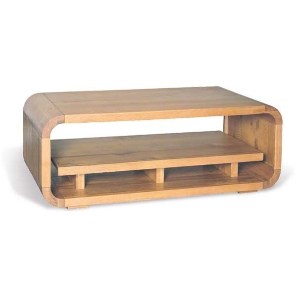 Impressive New Retro Oak Coffee Tables Throughout Courbe Retro Oak Coffee Table Element One House (View 23 of 50)
