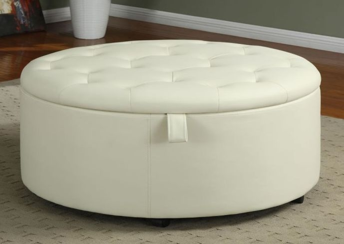 Impressive New Round Storage Coffee Tables Pertaining To Round Ottoman Coffee Table (View 33 of 50)