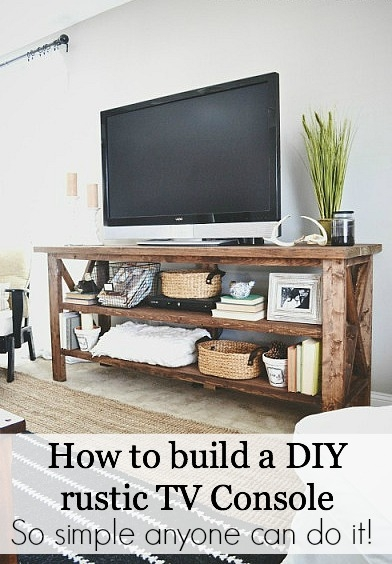 Impressive New Rustic 60 Inch TV Stands Inside Diy Tv Stand (Image 26 of 50)