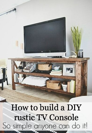 Impressive New Rustic Looking TV Stands Regarding Best 25 Diy Tv Stand Ideas On Pinterest Restoring Furniture (Image 24 of 50)