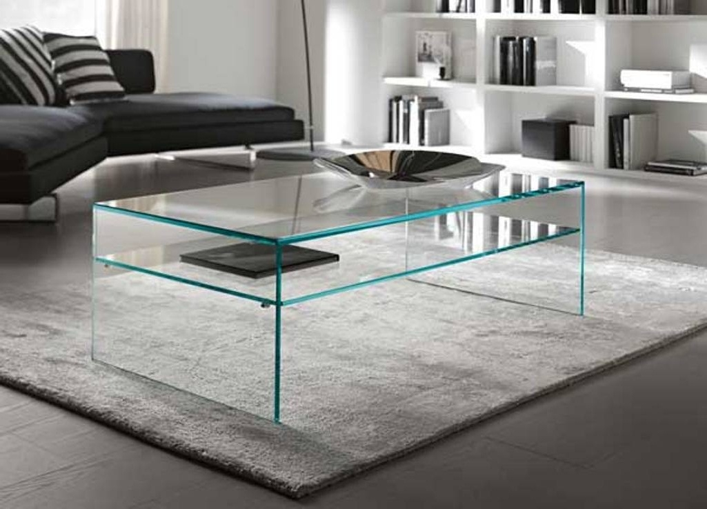 Impressive New Simple Glass Coffee Tables In In Door Water Falls With Different Materials And Several Rooms (Image 23 of 40)