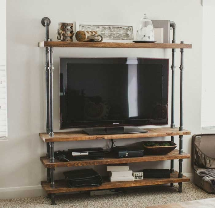 Impressive New Single Shelf TV Stands With 50 Creative Diy Tv Stand Ideas For Your Room Interior Diy (View 45 of 50)