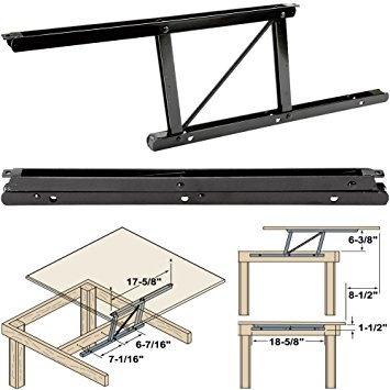Impressive New Top Lifting Coffee Tables Regarding Amazon Woodtek 164228 Hardware Table Folding Table (View 35 of 48)