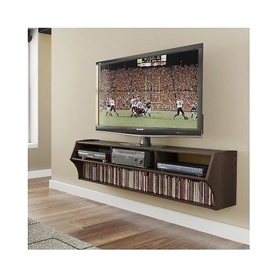 Impressive New Wall Mounted TV Stands With Shelves Pertaining To Floating Tv Stand Entertainment Center Wall Mount Wood Furniture (Image 33 of 50)