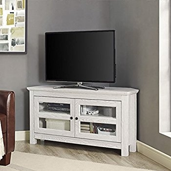 Impressive New White And Wood TV Stands Throughout Amazon We Furniture 44 White Wash Wood Tv Stand Kitchen (Image 28 of 50)