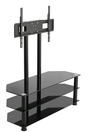 Impressive New White Cantilever TV Stands Throughout Mountright Cantilever Glass Tv Stand For Up To 60 Inch Amazonco (View 49 of 50)