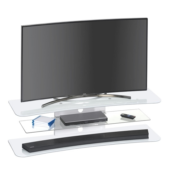 Impressive New White Glass TV Stands With Regard To Olivia Tv Stand Rectangular In White Glass 30962 Furniture (Image 33 of 50)