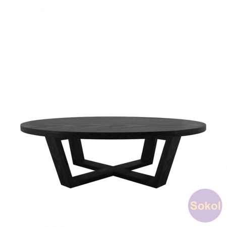 Impressive Popular Black Circle Coffee Tables In Black Circle Coffee Table Southern Enterprises Regency Round (Image 27 of 50)