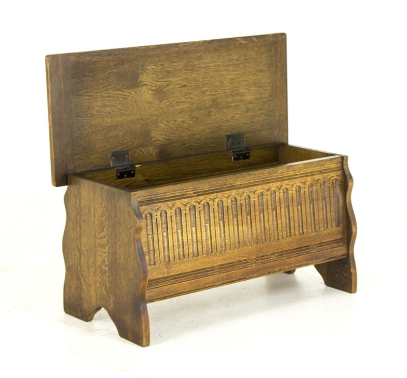 Impressive Popular Blanket Box Coffee Tables With B382 Vintage Petite Oak Blanket Box Toy Box Coffee Table With (Image 29 of 50)