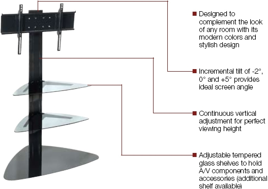 Impressive Popular Corner TV Stands For Flat Screen In Peerless Ss550p Flat Panel Tv Stand For 32 50 Inch Lcd And Plasma (Image 30 of 50)