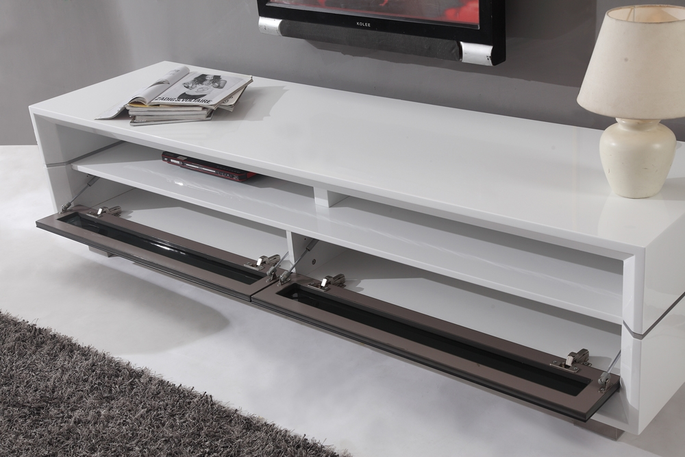 Impressive Popular High Gloss White TV Stands Throughout B Modern Executive Remix Tv Stand White High Gloss B Modern (Image 25 of 50)
