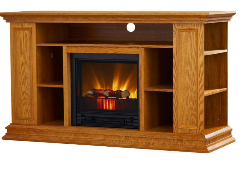Impressive Popular Light Brown TV Stands Throughout Fireplace Tv Stand 50 Electric Indoor Shelves Storage Light Oak (Image 29 of 50)