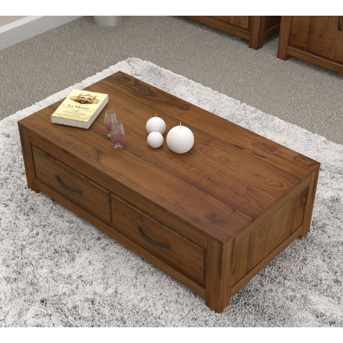 Impressive Popular Low Coffee Tables With Storage Throughout Coffee Table Dark Wood Low Drawers Buy Online Quality (Image 17 of 40)