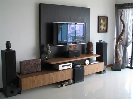Impressive Popular Modern TV Cabinets For Flat Screens With Regard To Home Dzine Home Decor Is The Tv A Focal Point In Your Home (Image 27 of 50)