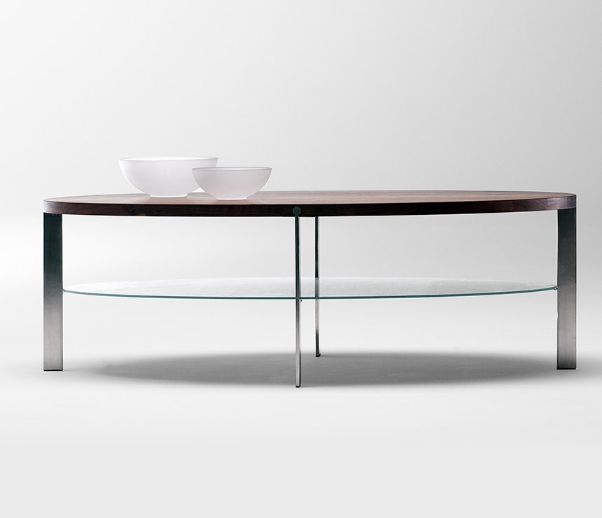 Impressive Popular Oval Walnut Coffee Tables Throughout Modern Oval Coffee Tables Table And Estate (Image 29 of 50)