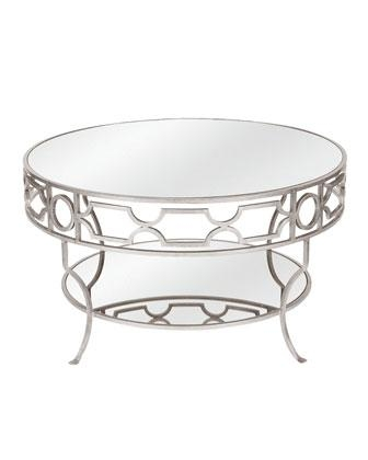 Impressive Popular Round Mirrored Coffee Tables In Ava Mirrored Coffee Table (Image 21 of 40)