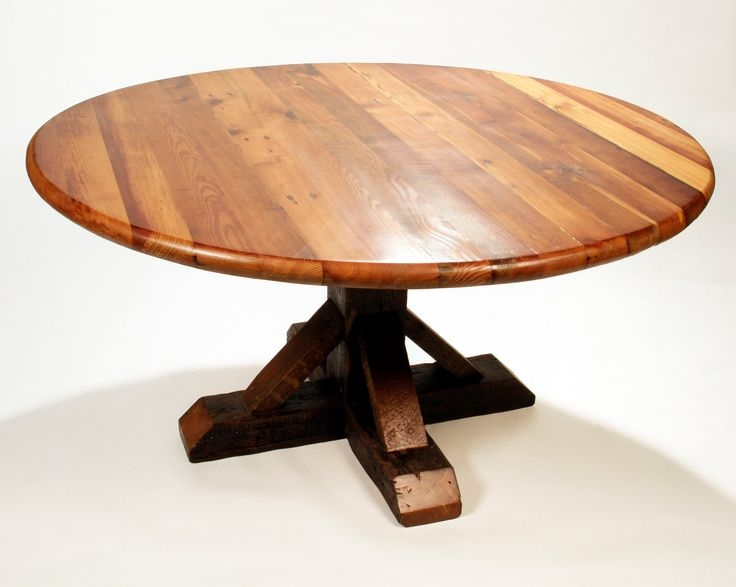 Impressive Popular Round Pine Coffee Tables Intended For Reclaimed Wood Dining Table Round Antique Heart Pine Reclaimed (View 18 of 50)