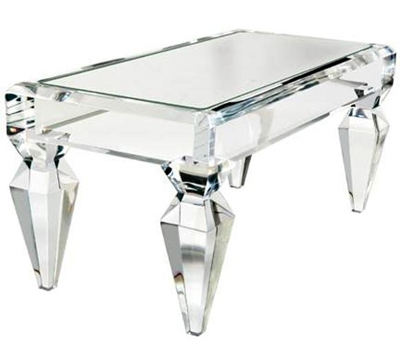 Impressive Popular Small Mirrored Coffee Tables Regarding Still Loving Lucite Coffee Tables Erika Brechtel (View 21 of 50)