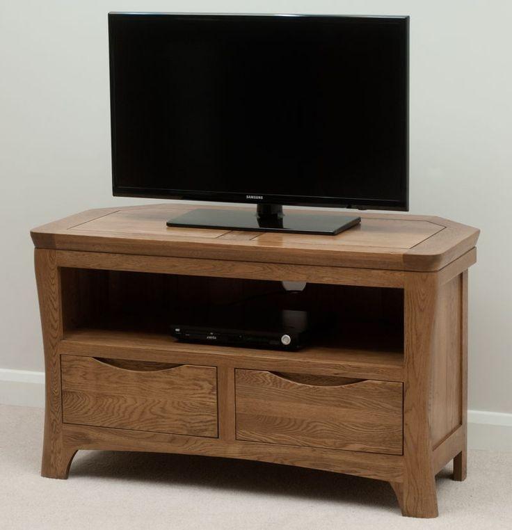 Impressive Popular Solid Wood Corner TV Cabinets Inside Best 25 Oak Corner Tv Stand Ideas On Pinterest Corner Tv (View 8 of 50)