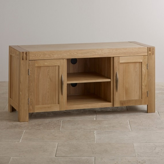 Impressive Popular Widescreen TV Stands Pertaining To Corner Widescreen Tv Cabinets Oak Furniture Land (Image 24 of 50)