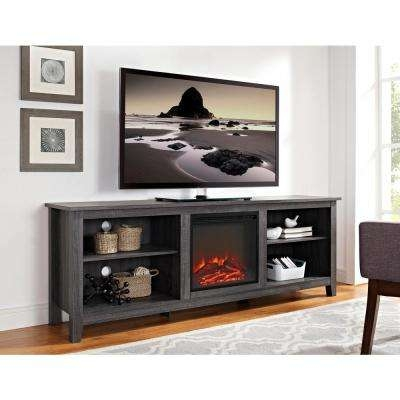 Impressive Popular Wooden TV Stands Throughout Tv Stands Living Room Furniture The Home Depot (Image 24 of 50)