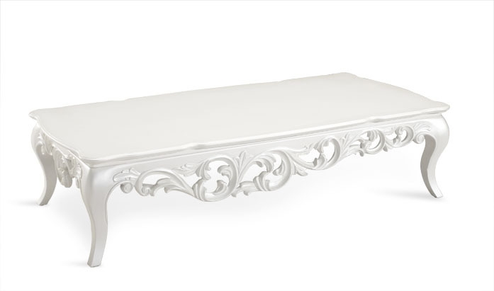 Impressive Preferred Baroque Coffee Tables With White Color Royal Princess Wood Carved Baroque Cococo Style Coffee (Image 29 of 50)