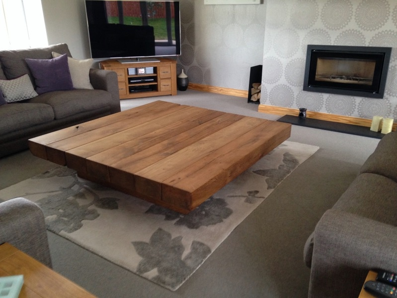 Impressive Preferred Big Square Coffee Tables For Coffee Table Glamorous Coffee Table Square In Your Living Room (Image 21 of 50)