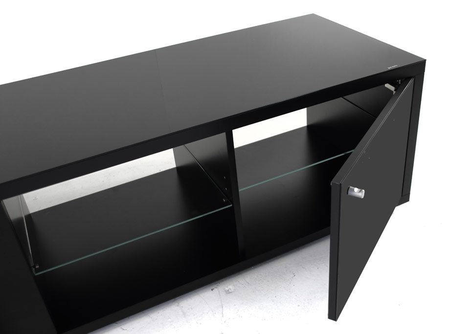 Impressive Preferred Black TV Cabinets With Spectral Just Racks Jra150 Gloss Black Tv Cabinet Black Tv (Image 24 of 50)