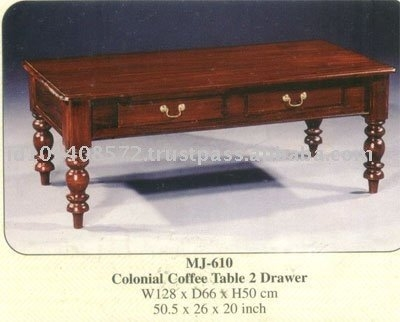 Impressive Preferred Colonial Coffee Tables Regarding Colonial Coffee Table 2 Drawer Mahogany Indoor Furniture Buy (Image 27 of 50)