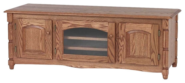 Impressive Preferred Country Style TV Stands Intended For Solid Oak Country Style Tv Stand With Cabinet Traditional (View 22 of 50)