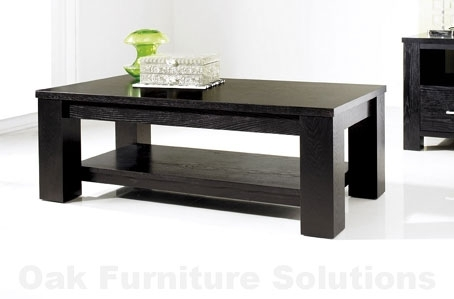 Impressive Preferred Dark Coffee Tables Regarding Living Room Cool Black Livingroom Decor With Black Leather Sofa (Image 34 of 50)