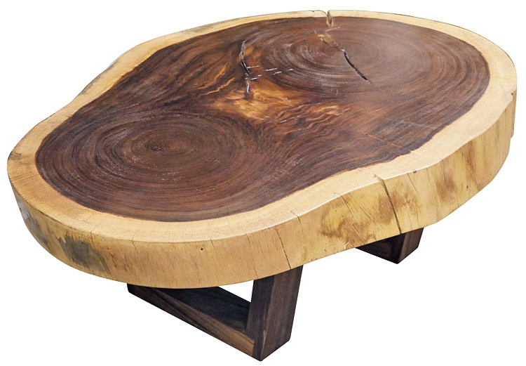 Impressive Preferred Free Form Coffee Tables Within Parota Wood Free Form Slab Coffee Table (Image 24 of 40)