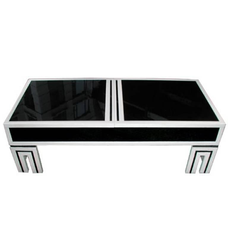 Impressive Preferred Glass And Black Coffee Tables Regarding James Mont Black Glass Coffee Table For Sale At 1stdibs (View 42 of 50)
