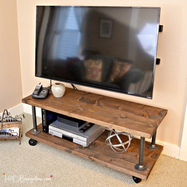 Impressive Preferred Industrial Corner TV Stands With Best 25 Tv Stand With  Wheels Ideas On Pinterest