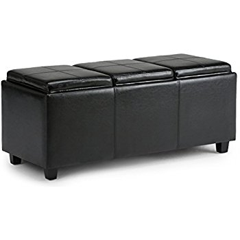 Impressive Preferred Large Rectangular Coffee Tables Intended For Amazon Simpli Home Avalon Coffee Table Storage Ottoman W  (Image 26 of 40)