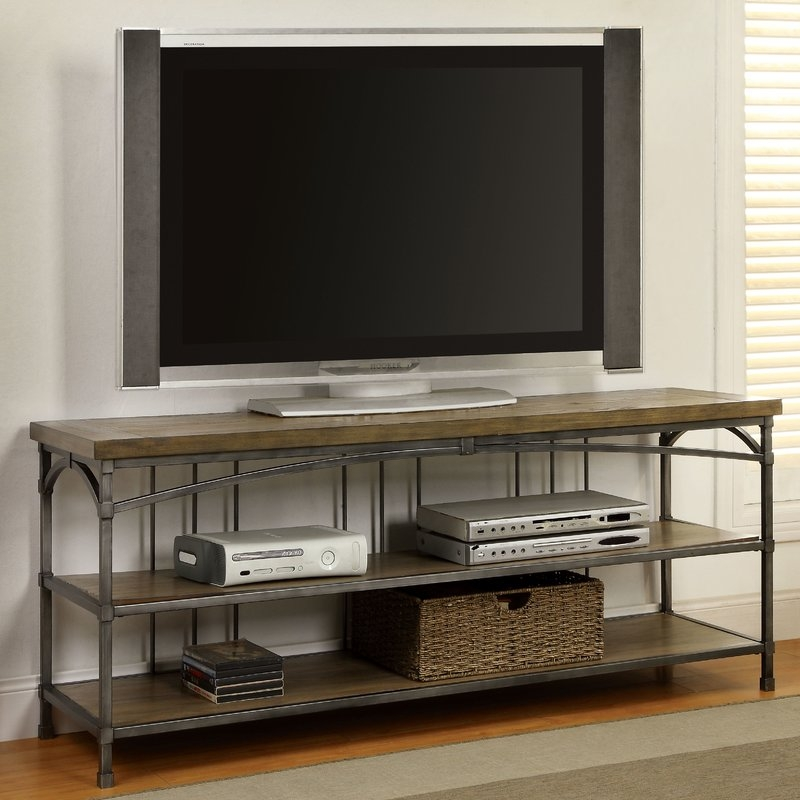 Impressive Preferred Mango Wood TV Stands Inside Industrial Tv Stands Youll Love Wayfair (Image 26 of 50)